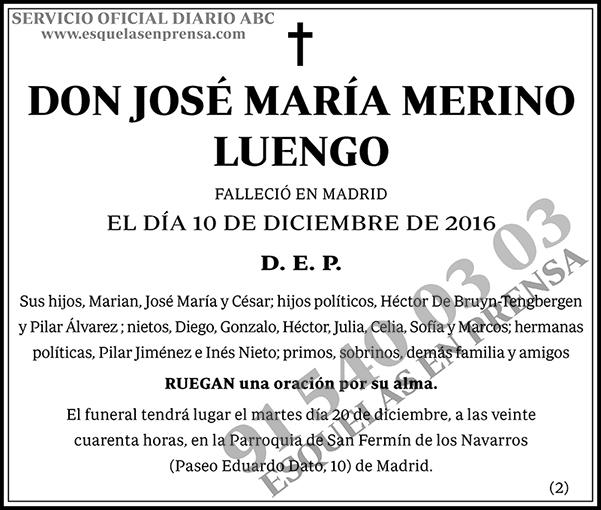 José María Merino Luengo